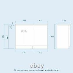 Debra White 1100 mm P-Shaped Vanity Unit LH Sink and Toilet Bathroom Furniture