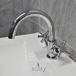Derby 600mm Bathroom Vanity Unit with Ceramic Basin Sink Mussel Oak