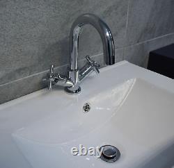 Derby 600mm Dark Grey Bathroom Storage Vanity Sink Basin Unit