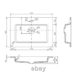 Eaton Gloss White Bathroom Wall Hung Vanity Unit White Glass Basin Sink 60cm