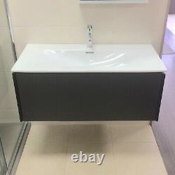 Ex-Display Duravit 1010mm Vanity Unit & Basin in Graphite Matt, with Drawer