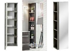 Grey Gloss Bathroom Set Vanity Sink Basin Wall Hung Cabinet Drawers Unit Twist