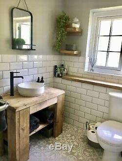 Hand crafted Rustic Basin Vanity unit washstand Belfast Butler Sink reclaimed