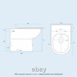 Manifold Bathroom Basin LH Sink Vanity Grey Unit Back To Wall WC Toilet 1100mm