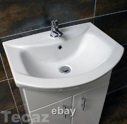 Moritz Paris 550mm Vanity Unit and Basin Sink Cupboard Cloakroom White Bathroom