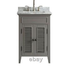 New Large 600 MM Grey Vanity Unit Marble Worktop Floor Standing Basin
