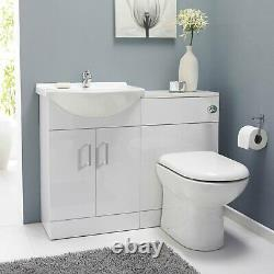 Nuie Saturn Combination Furniture Pack Round Basin WC Unit 1 Tap Hole