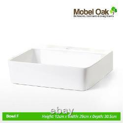 Oak Vanity Unit Cabinet Cloakroom Bathroom Wash Stand with Basin Sink & Tap 309