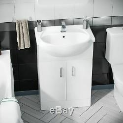 Senore Bathroom Suite 1700 Vanity Unit & Close Coupled Wc Toilet Cistern Seat