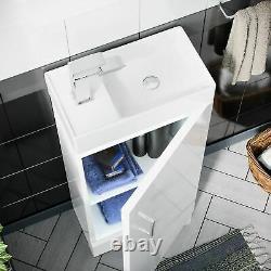 Small 400 mm Cloakroom Basin Sink Vanity Unit Bathroom Cabinet Storage Nanuya