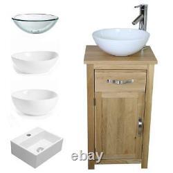 Solid Oak Bathroom Cabinet Compact Vanity Sink Small Bathroom Vanity Units