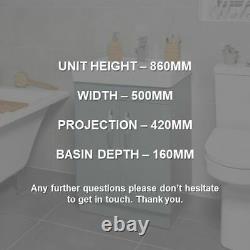 Square 500mm Floor Standing Bathroom Vanity Unit & Basin SQ500FS