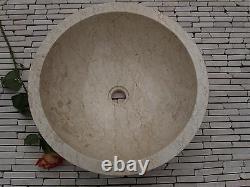 Stone Marble Sink Wash basin Cream 40 cm (wa002) Bathroom vanity