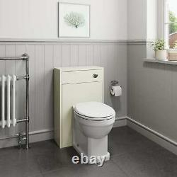 Traditional 950mm Bathroom Toilet WC Basin Vanity Unit Combined Furniture Ivory
