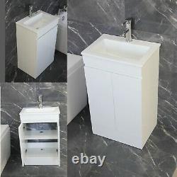 Vanity Cabinet Basin Sink Bathroom Cloakroom Compact Design Tap Waste 500MM 6090