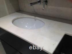 Vanity Unit Italian marble work top white