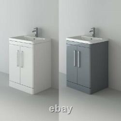 VeeBath Ceti Floor Standing Vanity Bathroom Furniture Basin Cabinet Unit 600mm