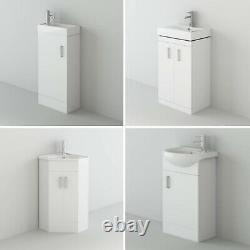 VeeBath High Gloss White Bathroom Vanity Basin Cabinet White Storage Furniture