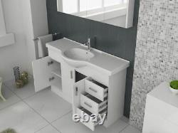VeeBath Linx Vanity Basin Cabinet Storage Unit Gloss White Ceramic Sink 1200mm