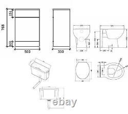 VeeBath Linx Vanity Bathroom Furniture Set WC Toilet Unit Pan Cistern 1250mm