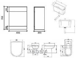 VeeBath Linx Vanity Bathroom Furniture Set WC Toilet Unit Pan Cistern 1450mm
