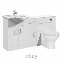 VeeBath Linx Vanity Unit WC Toilet Storage Cabinet Bathroom Furniture 1400mm