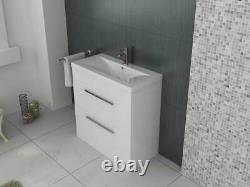 VeeBath Sobek Vanity Basin Cabinet Unit White Storage Sink Furniture 1000mm