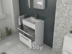VeeBath Sphinx Vanity Basin Cabinet Unit White Storage Sink Furniture 600mm
