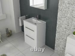 VeeBath Sphinx Vanity Basin Cabinet Unit White Storage Sink Furniture 700mm