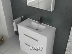 VeeBath Sphinx Vanity Basin Cabinet Unit White Storage Sink Furniture 800mm