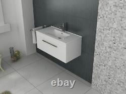 VeeBath Sphinx Vanity Basin Cabinet Wall Hung White Furniture Sink Unit 800mm