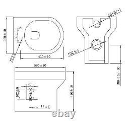 WC Unit Bathroom Vanity Square/Shape Close Coupled Toilet with Seat + Cistern