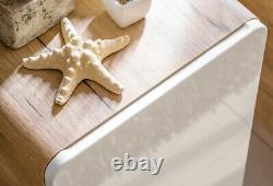 White Gloss Oak Bathroom 800 Vanity Unit Sink Wall Hung Cabinet Counter Top Arub