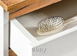 White Gloss Oak Bathroom Vanity Sink Countertop Basin Wall Hung Drawer Unit Plat